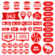 Sale Banners, Labels and Stickers