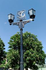 Уличный фонарь в центре города Павлово Нижегородской области