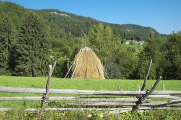 Haystack In Kamena Gora Mountain, Serbia
