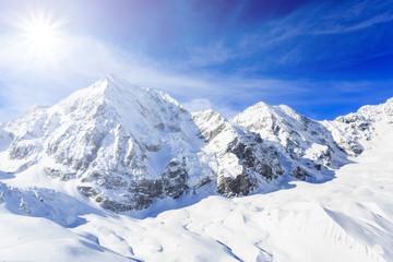 Winter mountains, panorama of the Italian Alps