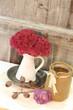 Herbstzauber mit Rosen & Sedum