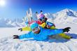 Skiing, winter, snow, skiers, sun and fun
