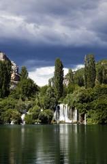 waterfalls of the Krka river in Krka national park in Croatia