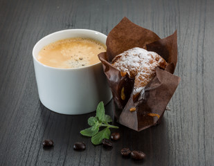 Coffee with muffin