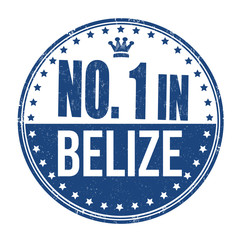 Number one in Belize stamp