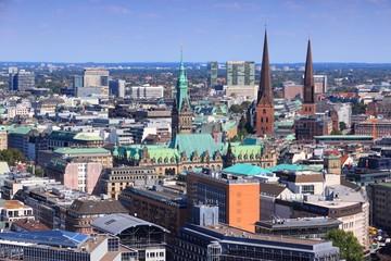 Hamburg aerial view in Germany
