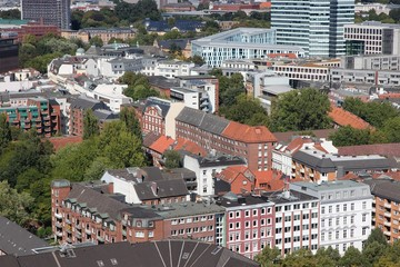 Hamburg, Germany aerial view