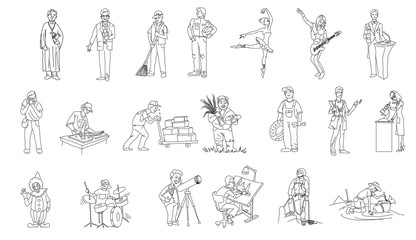 profession, people, man, woman vector