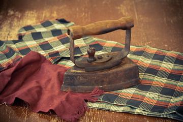 vintage metallic iron, old iron.