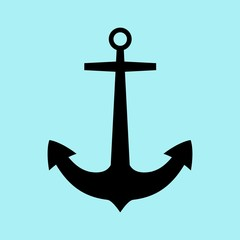 Anchor icon flat