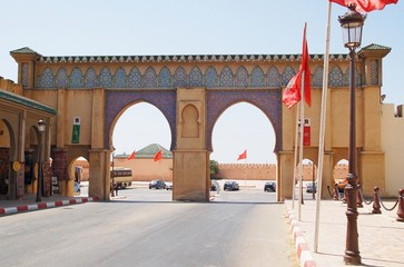 Morocco, the beautiful gate in Meknes