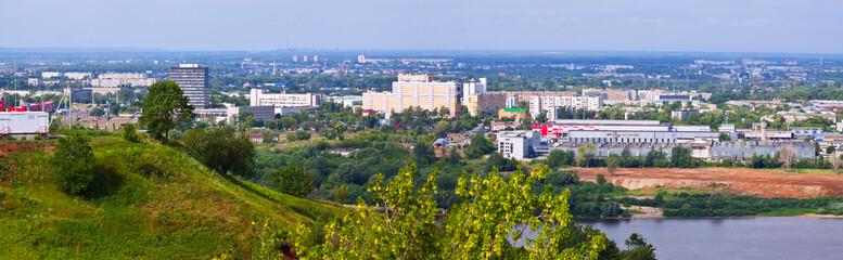 panoramic view of  industry district at Nizhny Novgorod
