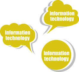 information technology. Set of stickers, labels, tags. Business