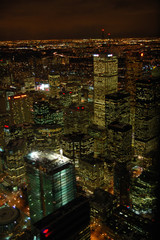 Top view of Toronto downtown