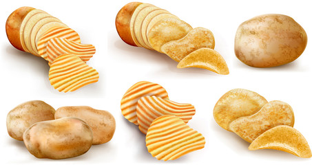 potatoes and chips collection