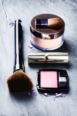 Various makeup products