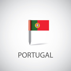 Portugal flag pin.