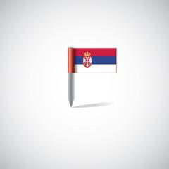 serbia flag pin.