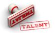 Постер, плакат: Талант talent Печать и оттиск