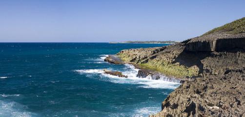 Ocean shore Puerto Rico