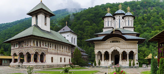 Lainici Monastery panorama
