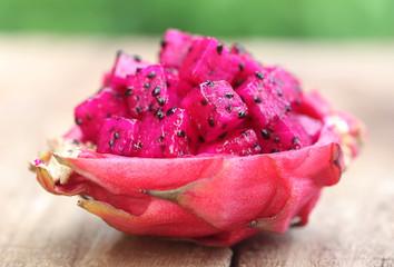 Pieces of dragon fruit