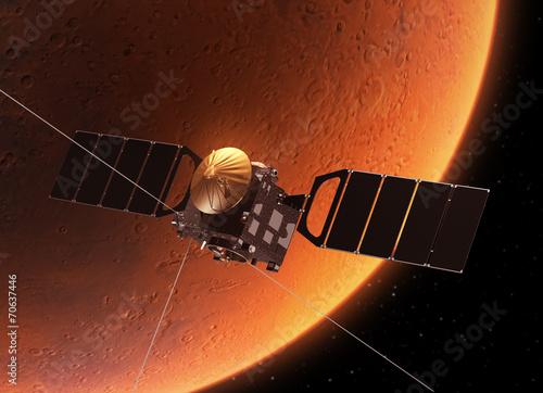 """fototapeta na ścianę Statki kosmiczne """"sonda Mars Express"""" Orbicie planeta Mars"""
