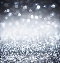 "Постер, картина, фотообои ""silver glitter - shiny wallpapers for Christmas"""