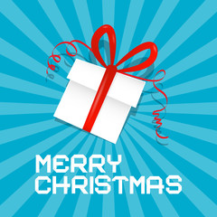 Merry Christmas Blue Vector Illustration