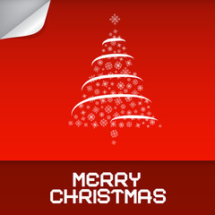 Merry Christmas Red Vector Illustration