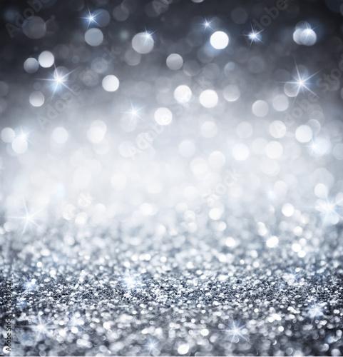 Leinwandbild Motiv silver glitter - shiny wallpapers for Christmas