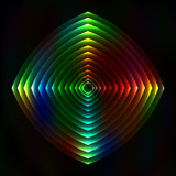 Colorful light figure abstract background - vector astral poster