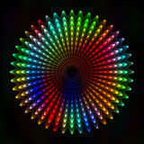 Colorful light figure, abstract background - vector astral poster