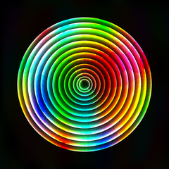 Colorful light circles abstract background - vector astral