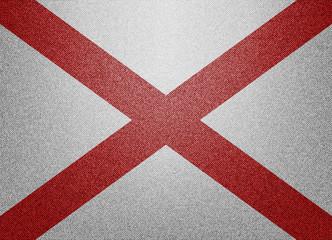 Alabama denim flag