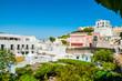 Leinwanddruck Bild - Case sull'isola di Ponza