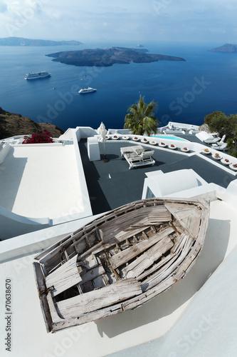 Leinwanddruck Bild île de Santorin Cyclades Grèce