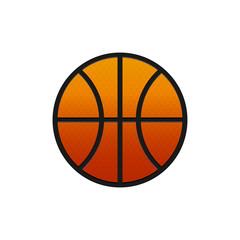 Flat basketball icon
