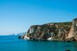 Leinwanddruck Bild - Chiaia di Luna isola di Ponza