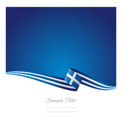 Greece flag abstract color background vector
