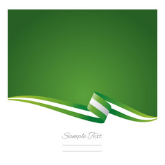 Abstract color background Nigerian flag vector