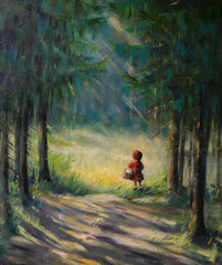Little Red Riding Hood fairy tale.