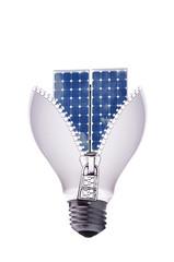 lampadina con pannello solare