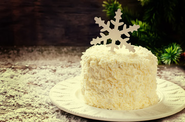 coconut chocolate cake with cream cheese