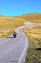 riders on the mountains of Laga, Gran Sasso, Abruzzo, Italy
