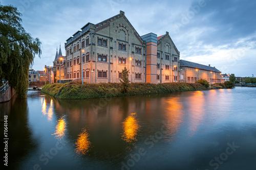 Staande foto Vestingwerk Former prison building Leeuwarden, Holland