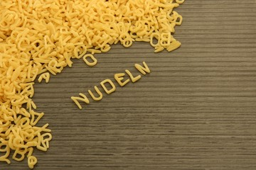 Buchstaben Nudeln