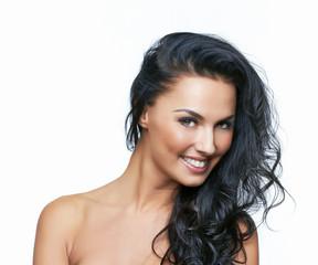Beautiful portrait of european young woman