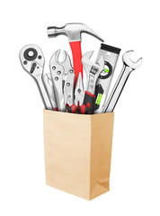 Many Tools in paper bag