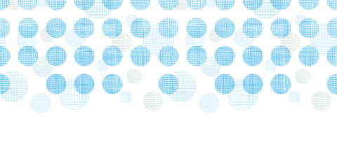 Abstract textile blue polka dots stripes horizontal seamless